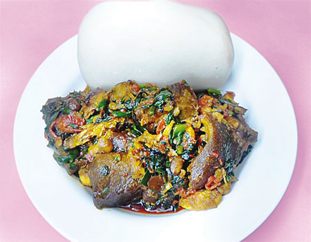 Pounded Yam and Efo